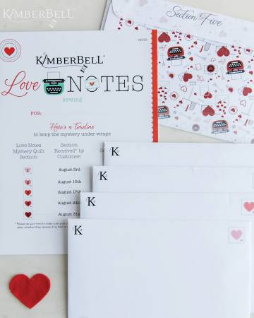 PRE ORDER - Kimberbell Mystery Love Notes PATTERN (Sewing)