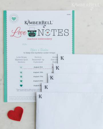 PRE ORDER Kimberbell Mystery Love Notes PATTERN (Embroidery)